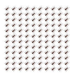 ants wallpaper on white background vector image