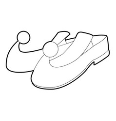 Arabic shoes icon outline style vector