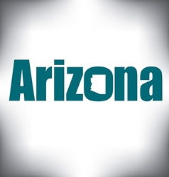 Arizona state graphic vector image