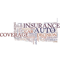 Auto coverage analyzer text background word cloud vector