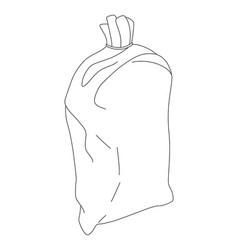 bag on white background vector image