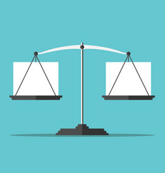 Balance with blank boxes vector