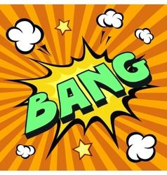 bang cartoon comic explosion vector image