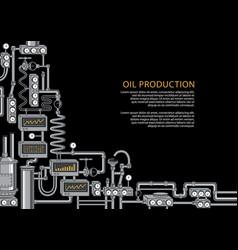 Banner on theme oil industry equipment vector