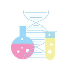 biology laboratory test tube dna molecule science vector image