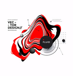 black and red fluid shape on white background vector image