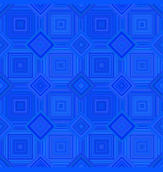 Blue abstract diagonal square tile mosaic pattern vector