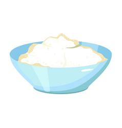 Bowl dough iconcartoon icon vector