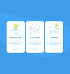 business idea partnership contract mobile app vector image