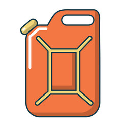 Canister of gasoline icon cartoon style vector