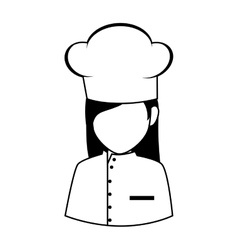 chef hat uniform women vector image