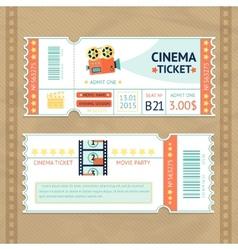 Cinema Tickets Set vector