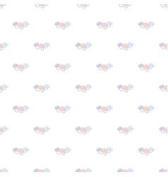 cloud computing pattern vector image vector image