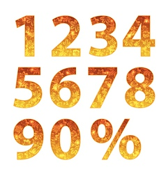 collection autumn numbers vector image
