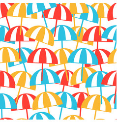 colorful beach umbrellas seamless pattern summer vector image