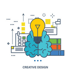 concept of creative design and brainstorming vector image