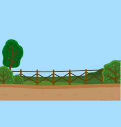 Countryside rural country road green trees vector