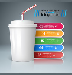 cup of coffee tea icon bussiness infographic vector image