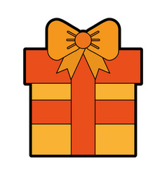 Cute orange gift cartoon vector