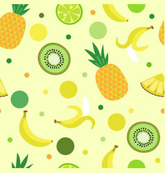 Decorative seamless background of fruits and eleme vector
