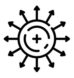 Direction electron motion icon outline style vector