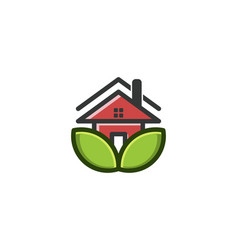 eco house logo designs inspiration isolated on vector image