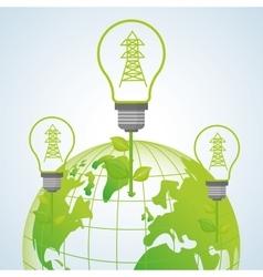 Ecology design protection icon green concept vector