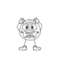 emoticon shock sketch vector image