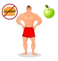Fitness concept with sport bodybuilder man vector