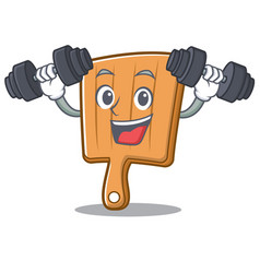 Fitness kitchen board character cartoon vector