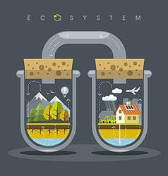 Flat ecosystem vector