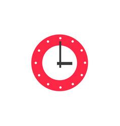 Flat wall mounted analog clock vector