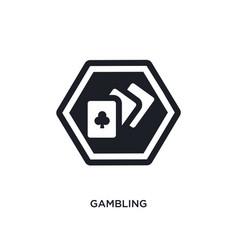 Gambling isolated icon simple element from signs vector
