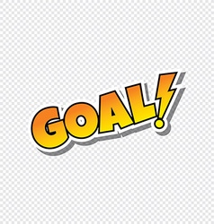 goal cartoon sport text sticker vector image