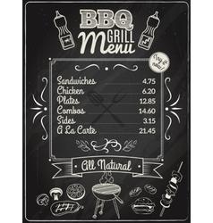 Grill Menu Chalkboard vector