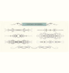 hand drawn flourishes vintage graphic elements vector image