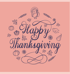 happy thanksgiving day concept background simple vector image