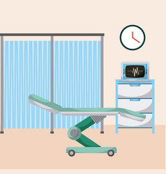 Hospital personal medical ward bed machine vector
