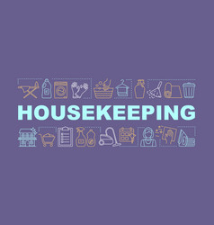 Housekeeping word concepts banner vector