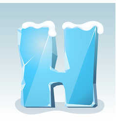 Ice letter h vector