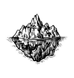 iceberg in ocean a large piece a mountain vector image
