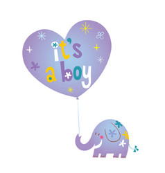 Its a boy baby shower card vector