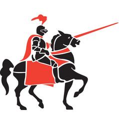 Knight logo mascot vector