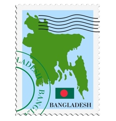 Mail to-from Bangladesh vector