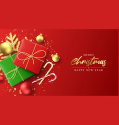 Merry christmas and new year banner vector