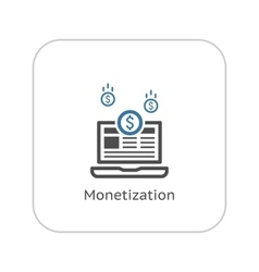 Monetization Icon Business Concept Flat Design vector
