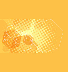 orange scientific background vector image