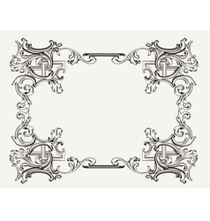 Original renaissance ornate frame vector