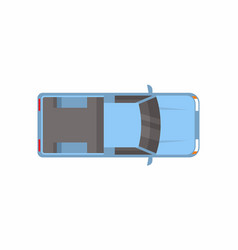 pickup truck top view vector image