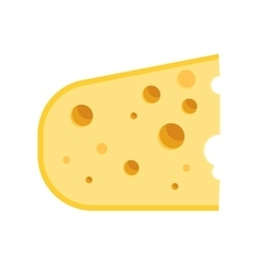 piece of cheese icon vector image